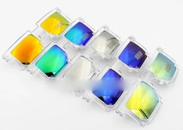 Wholesale Square Gift Boxes Wholesale Clear - Through reflective The new tide of Mosaic Mercury sunglasses for men and women general box retro sunglasses DHL FREE GIFT
