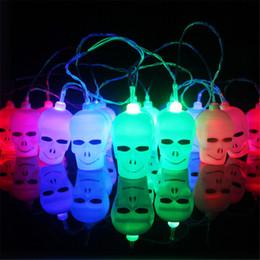 luci stringa del cranio Sconti Battery Operated 3.5M 16 LED Skull / Pumpkin String Light Festival Festival Party Bar Decorazione luci natalizie