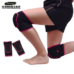 Wholesale gym baby pad - Wholesale- 1 Pair Adults Kids Children Dancing Volleyball Tennis Knee pads Sport Crossfit Gym Kneepads Baby Crawling Safety Knee Support