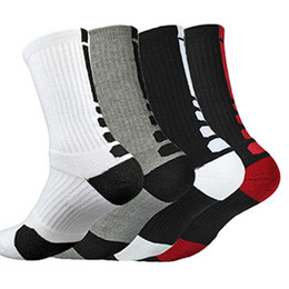 Wholesale Elite Socks Wholesale - Free Shipping Professional Basketball Socks Thicker Towel Bottom Socks Men's Elite Shoe Sugar Cream Deodorant Bunny Outdoor Sports Socks Who