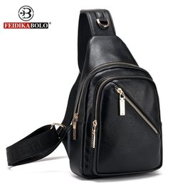 Wholesale Mini Bag Shoulder Strap - Wholesale- FD BOLO Brand Bag Men Chest Pack Single Shoulder Strap Backpack Leather Travel Bag Men Crossbody Bags Fashion Rucksack Chest Bag