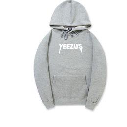 yeezus hoodie Скидка 2018 новых мужчин и женщин осень KANYE свитер хип-хоп флис толстый свитер толстовка письмо YEEZUS печати kanye yeezus мужчины с капюшоном толстовка