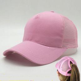 Wholesale Ponytail Pink - New Arrival Women ponytail Hats baseball hat Fashion Girl Softball hats back hole Pony Tail Drop Shipping Cheap Sun hat
