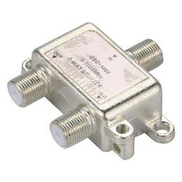 antena mhz Rebajas Antena divisor de antena de TV de 2 vías Cable divisor de conector de frecuencia divisoria de 5-1000 MHz F BI126 +