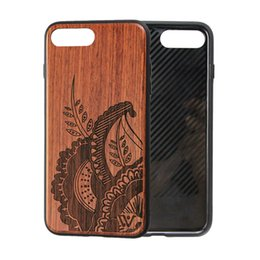 Wholesale Blue Laser Plastic - Bamboo Rosewood Full Protective Case for iPhone X iPhone 8 Laser Engraving Wood Cell Phone Case