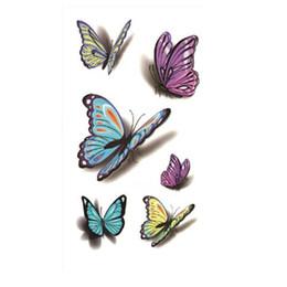 Wholesale Temporary Eye Tatoos - Wholesale- 1PCS Butterfly Designed Temporary Waterproof tatoos Sticker Body Art Decal Fake Tattoo Body Beauty