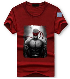 Wholesale Lol Shirts - Summer Hip Hop style Cotton T-Shirt Plus Size 5XL Men's Short Sleeved shirt LOL Game heroes Printed Tee Shirts male casual slim tees