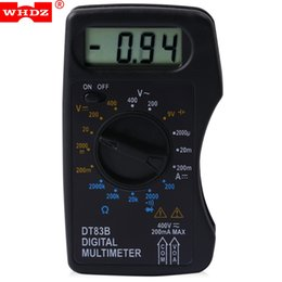 Wholesale Measure Dc Current - WHDZ Digital Multimeter AC DC Tester Voltmeter Stable Performance with LCD Screen Measuring Current Resistance Diode Test +B