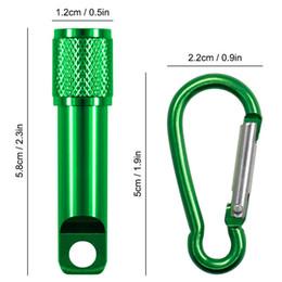 Wholesale Mini Led Flashlight Keychain Carabiner - Portable Mini LED Flashlight Keychain Aluminum Alloy Torch With Carabiner Ring Keyrings LED Mini Flashlight Mini-light Free DHL