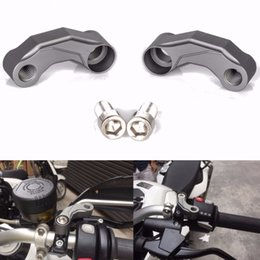 Wholesale Mirrored Visor - MAYITR Motorcycle Aluminum Mirrors Riser Extension Brackets Adapter For BMW R1200GS LC   R1200 GS Adventure 2013-2016