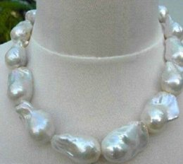 Wholesale South Sea Huge Pearl - REAL HUGE SOUTH SEA WHITE BAROQUE PEARL NECKLACE 18''