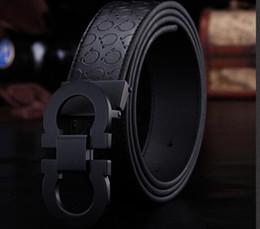 Wholesale Ceinture Genuine Leather - New Fashion Mens Business Belts Luxury Ceinture Automatic Buckle Genuine Leather Belts For Men Waist Belt Free Shipping