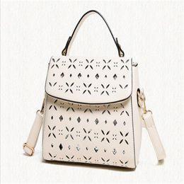Wholesale Fashon Bags - 2017 Fashon hollow out floral shoulder bag crossbody tote messenger handbags famous brand designer bags free shipping
