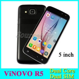 Wholesale Android Smart Phone 5inch - 3G Unlocked R5 5inch MTK6572 Dual Core Smart phone Android Dual SIM Cameras 512MB 4GB Mobile Cell phones Wifi Google Play Store Facebook