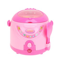 Wholesale Mini Child Puzzle - Wholesale- Mini Simulation Kitchen Toys Kids Children Play House Toy Electric Cooker Furniture Kitchen Puzzle Toys For for Baby Girls Boys