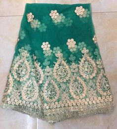 Wholesale Embroidered Lace Material - JKW-67 high quality african lace materials for wedding 2017 Latest african swiss voile lace 5 yards whole sale