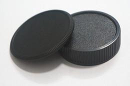 Wholesale Pentax Body - Wholesale-1 Pairs camera Body cap + Rear Lens Cap for M42 42mm Screw Mount Camera and lens