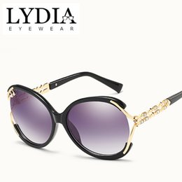 fashion sunglasses Canada - LYDIA New Brand US EU Style Sunglasses Women UV400 Fashion Sunglass Female Decoration Big Shape Sun Glasses For Girls L516