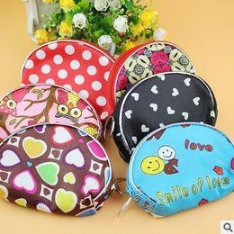 Wholesale Mini Bag Headphone - Portable zipper Coin Purse Ring loss prevention keys wallet Pocket Case cosmetic makeup Sorter Mini Earphone Bag Colorful Headphone Box