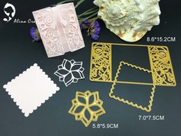 Wholesale Metal Craft Home Decorations - Metal cutting dies 3pc flower flower rectsangle frame Scrapbook card paper craft home decoration embossing stencil cutter
