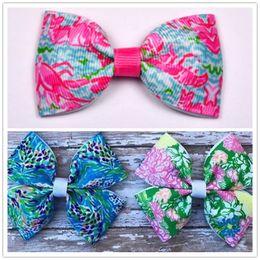 Wholesale Diy Ribbon Bow Hair Clip - 100pcs 3'' Grosgrain Ribbon hair bows Boutique Hair Bows WITHOUT Clip for DIY Kids Baby Girls' Hair Band Tie Accessories Headwear