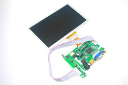 Wholesale Pi Monitor - Wholesale-7 inch Raspberry Pi LCD With HDMI VGA AV Screen Display Monitor Module For Pcduino Banana Pi 800x480 with keyboard plate