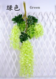Wholesale Light Decoration For Home Prices - Artificial ivy flowers Silk Flower Wisteria Vine flower Rattan for Wedding Centerpieces Decorations Bouquet Garland Home Ornament low price