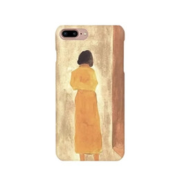 Wholesale Iphone Back Cover Style - B60017 literary art style hard case for iPhone7   7 plus,illustration girl protective back cover for iPhone6 6S plus 4.7 5.5inch
