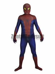 Удивительный костюм Человека-паука Костюм Человека-паука-3D Печатный косплей Зентаи Костюмы для Хэллоуина supplier zentai amazing spiderman costume от Поставщики zentai удивительный костюм паук