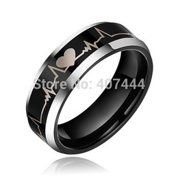 Wholesale Tungsten Mens Rings Sale - Free Shipping YGK JEWELRY Supernova Sale 8MM Bridal Women&Mens Forever Love Black Silver Tungsten Wedding Rings q170717