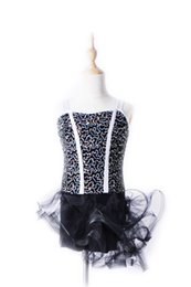 Wholesale Latin Dance Outfits - girls dance costume ballet dress for children New children's female strap Latin dance skirts dance jumpsuits acrobatics stage outfits 1