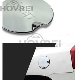 Tapa de combustible de cromo online-Car styling Silver ABS Aluminio Cromo Gas Fuel Filler Cubierta del tanque Para Jeep Wrangler 2007-2016 Cubierta del tanque Cap Puerta Cubierta