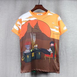 Wholesale Knight Brand Shirts - 2017 summer new fashion brand cotton round neck short sleeve t shirt men Sleeve Knights of cartoon printing