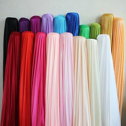Wholesale Silk Fabric Wholesalers - 150CM 59inch wide ice Silk fabric wedding backdrop Satin Fabric Decoration Solid Color Cloth Performance Clothing Fabrics Clothing Lining