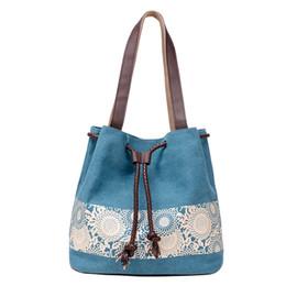 Wholesale Coffee America - Ms America Korean fashion canvas bag retro casual canvas bag dual-purpose portable printing