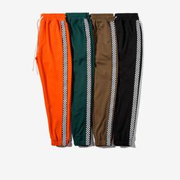 Wholesale Harem Stripes - 2017 New Fashion Korean Autumn Men Sportswear Pants Side Stripe Jogger Flat Track Pants Elastic Waist Vintage Casual Men Skateboard Pants