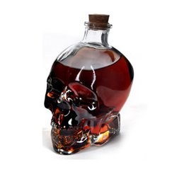 Wholesale Whiskey Crystal - Skull Drinking Glasses Vodka Whiskey Shot Creative Style Drinking Bottles Home Bar Glasses Drink Cocktail Beer Crystal Cups