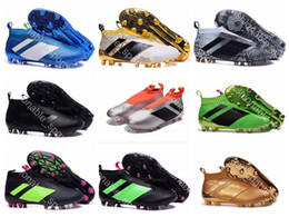 Wholesale Media Control - 2017 New Cheap Ace 16+ Purecontrol Soccer Boots Pure Control football boots Men Soccer Cleats Boots High Quality Football Shoes EUR:39-45