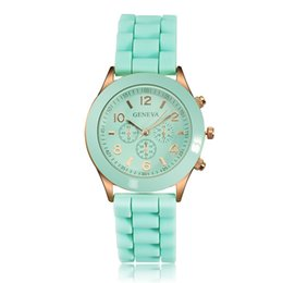 Wholesale Geneva Silicone Watches Price - Promotional Price Geneva Silicone Watches Fashion Jelly Watch Wrap Quartz Casual Wrist Watches Women Girls Ladies Watch