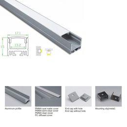 Canada 10 X 1M ensembles / profil en aluminium mené par U de forme de lot et extrusion menée argentée de canal pour le plafond ou l'éclairage de mur enfoncé cheap aluminium extrusions profiles Offre