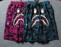 Wholesale Summer Animal Pants - Hot sale Shark Ape Head pants summer fashion beach shorts camouflage printed shorts men pants