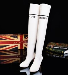 Wholesale Thigh High Leather Snow Boots - Wholesale New Arrival Hot Sale Specials Super Fashion Influx Warm Female Slim Suede Elegant Spring Elastic Canister Knee Boots EU34-39
