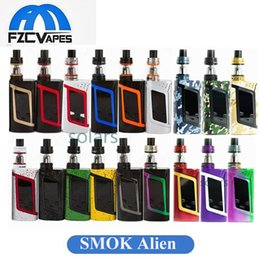 Wholesale Green Aliens - Authentic SMOK Alien 220W Kit New Colors Camouflage Army Green Splatter Rainbow Starter Kit Mod with 3ml TFV8 Baby Tank 100% Original
