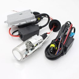 Wholesale Xenon Hid Lights For Motorcycles - Universal 55W Motorcycle Lens HID H4 H6 Mini HID Bi-Xenon Projector Lens Light For Motorcycles Projector Lens + Ballast