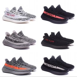 Wholesale Cheap Black Athletic Shoes - 2017 SPLY-350 V2 Boost Athletics Discount Sneakers Men Women Running Shoes Kanye West New Cheap Top Quality Sport Boots US5-11.5 With Box