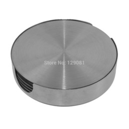 Wholesale Stainless Steel Coasters - Wholesale-Stainless steel round coasters Stainless steel eat mat