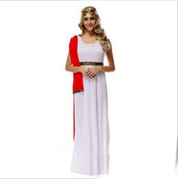 2019 griechische göttin cosplay 2017 neue Ankunft Griechische Göttin Athena weiß Lange Kleid Sexy Cosplay Halloween Kostüme Uniform Versuchung Bühne Leistung Kleidung rabatt griechische göttin cosplay