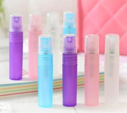 Wholesale Color Spray Bottles - 5ML Travel Portable Perfume Bottle Frosted Color Spray Bottles Empty Cosmetic Containers 10ml Perfume Empty Atomizer Plastic Pen