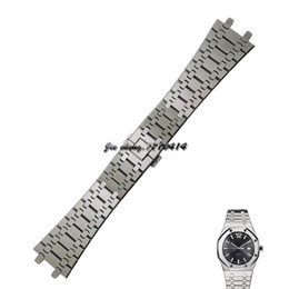 Wholesale Watch Wide - JAWODER Watchband Convex Surface Interface Wide Stainless Steel Bracelet Steel Wrist Strap Men women 20 26mm Accessories Watch for Royal Oak