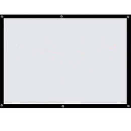 Wholesale Cheap Wall Mounts - Factory sales Cheap 100inch 16:9 HD projector Screen Portable Front projection screen with black edge and eyelets without Frame